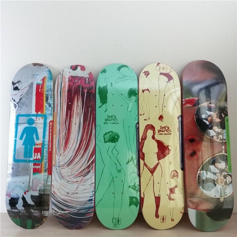 Ee.uu. marca gráfica PRO cubiertas skate cubiertas patrón hecho por madera de arce canadiense monopatín forma cubierta para pro SK8ERs DIY