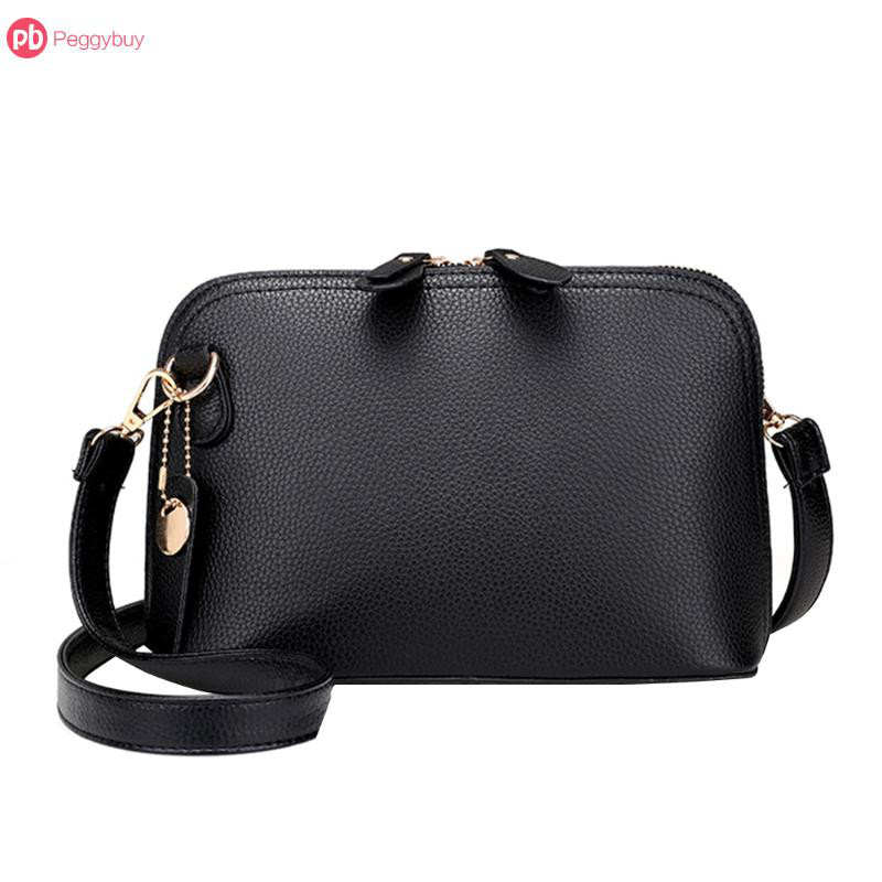 Women PU Leather Vintage Messenger Bag Shoulder Crossbody Bag Shell Bag Handbag
