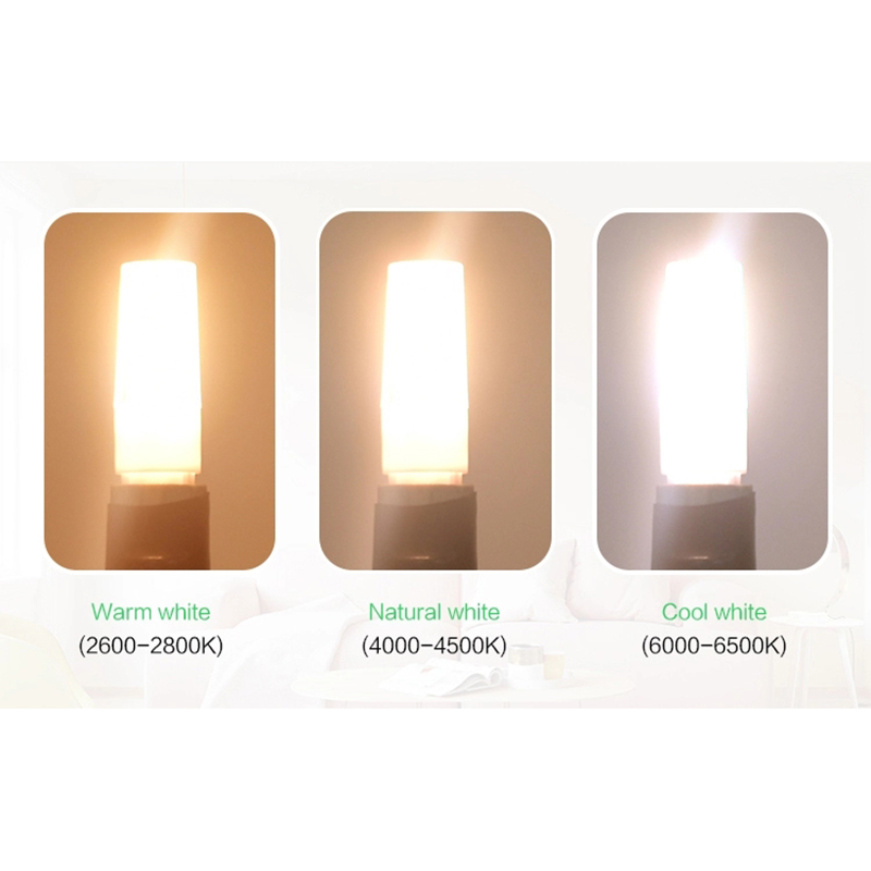 LKLTFX 100 Uds productos 2508 AC110V 220V 3W LED lámpara bombilla de cerámica vela luz cool led decoración del hogar - 5