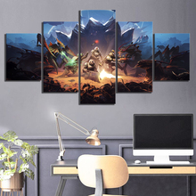 5 Piece HD Fantasy Art Shooting Game Poster Pictures HELLDIVERS Video Wall Sticker Canvas Paintings