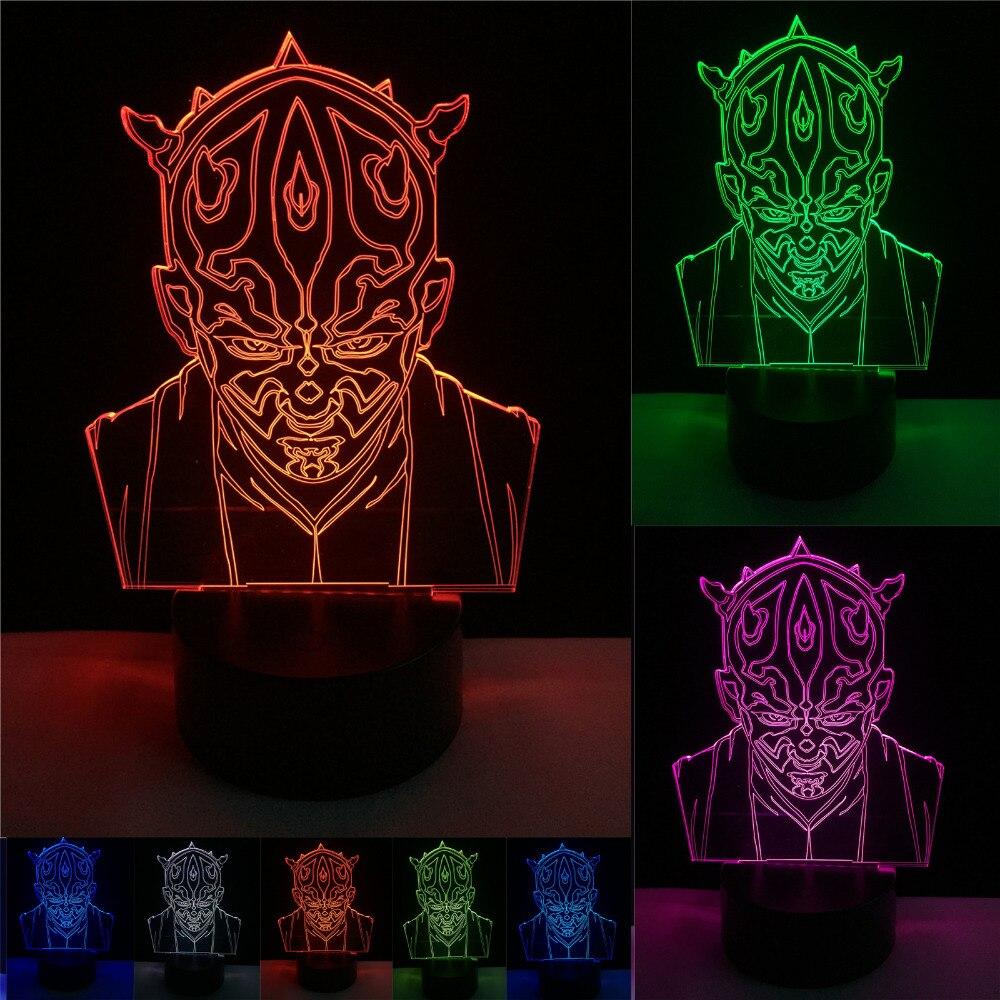 Luzes da Noite moda star wars cavaleiro jedi Fonte de Luz : Lâmpadas Led