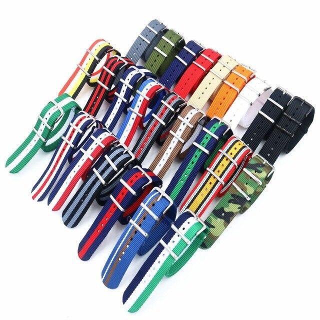 Dubbele gesp horloge band bandjes Waterdichte Horlogeband voor D & W Nato riem 14mm 18mm 20 mm Nylon mannen Vrouwen Horloge Band Vervangen