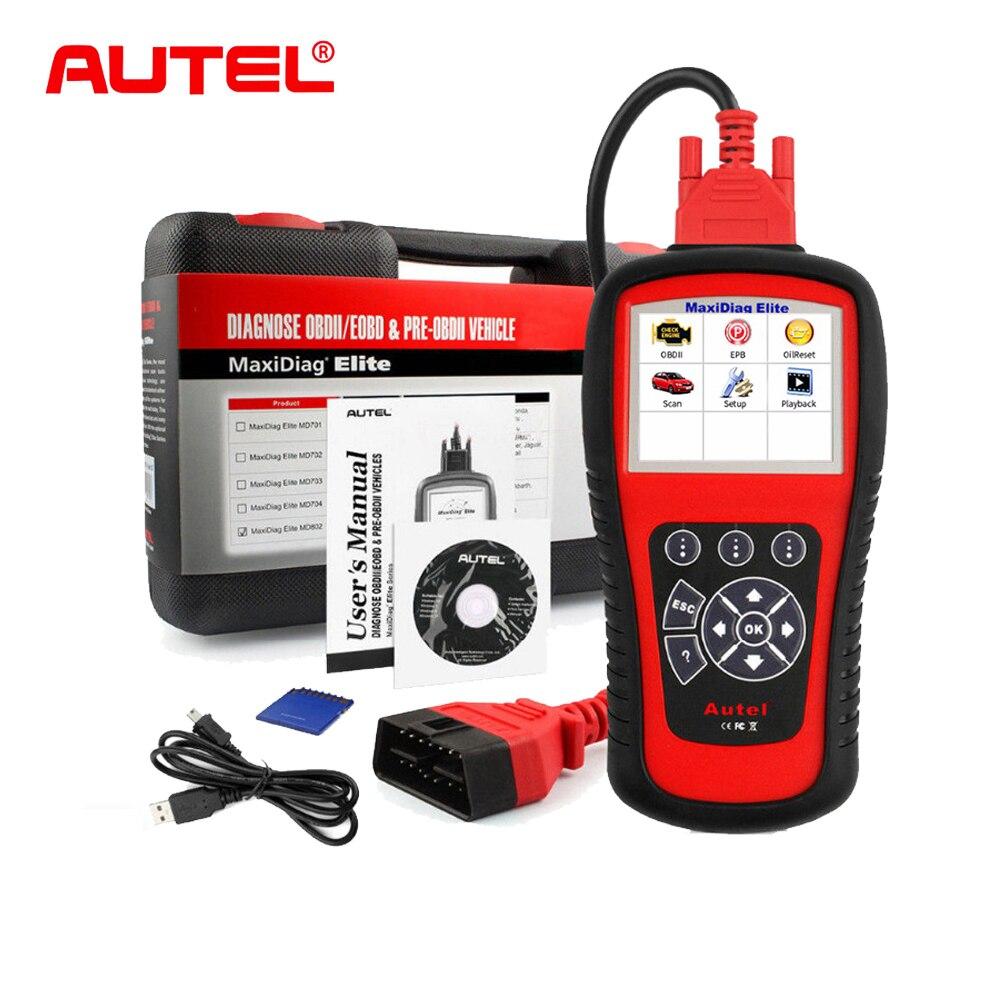 Autel MaxiDiag MD802 Car diagnostic tool OBD2 Scanner EOBD Scan Tool Code Reader for ABS,SRS,Engine,Transmission,EPB,Oil System