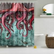 Svetanya Comic Octopus Print Shower Curtains Bath Products Bathroom Decor with Hooks Waterproof 71×71″