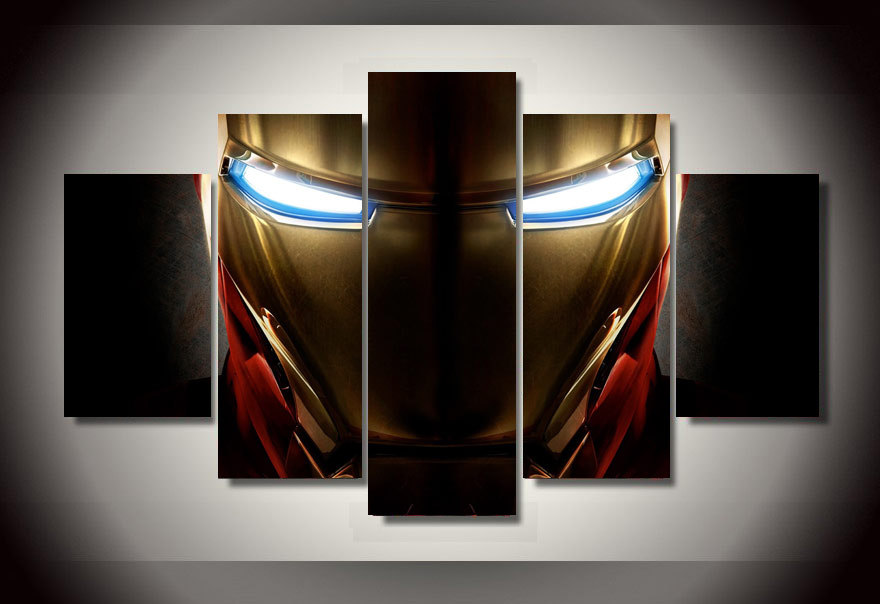 Marvel Comics Iron Man Deco Canvas Print 30 x 40cm |Man Canvas Print