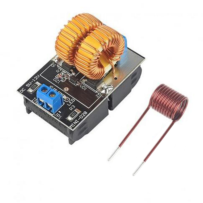 5-12V 120W Mini ZVS induction heating board Flyback driver heater DIY Cooker+ ignition coil zvs high frequency induction heating 1800w high frequency machine without tap zvs