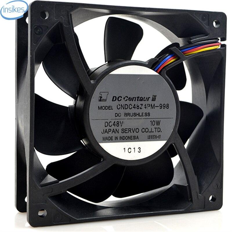 DHL Free CNDC48Z4PM-998 DC 48V 10W 12038 12cm 120*120*38mm 4 Wires Inverter Cooling Fan delta 12038 12v cooling fan afb1212ehe afb1212he afb1212hhe afb1212le afb1212she afb1212vhe afb1212me