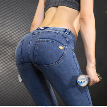 2018 Women Push Up Jeans Skinny Button Zipper Plus size clothing New Fashion Sexy Female Summer Autumn Winter Jeans Pencil Pants 1