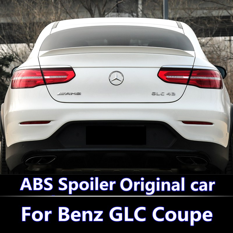 for Mercedes GLC Class Coupe GLC300 GLC250 2016-2018 spoiler For Benz GLC  Coupe GLC43 GLC260 Spoiler ABS Car Rear Wing Spoiler