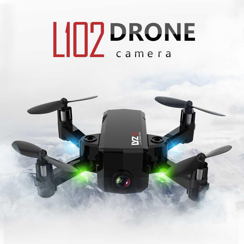Dron L102 480 P 720 P Mini RC con cámara Wifi FPV soporte de altitud plegable Quadcopter helicóptero de Control remoto Juguetes del IN1601