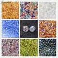 Trans Rainbow 2/3/4mm 6/0 8/0 12/0 Ronda Cristal Joya Que Hace DIY Diseño Flojo Bijoux Granos de la semilla de Colores Transparentes Redondas