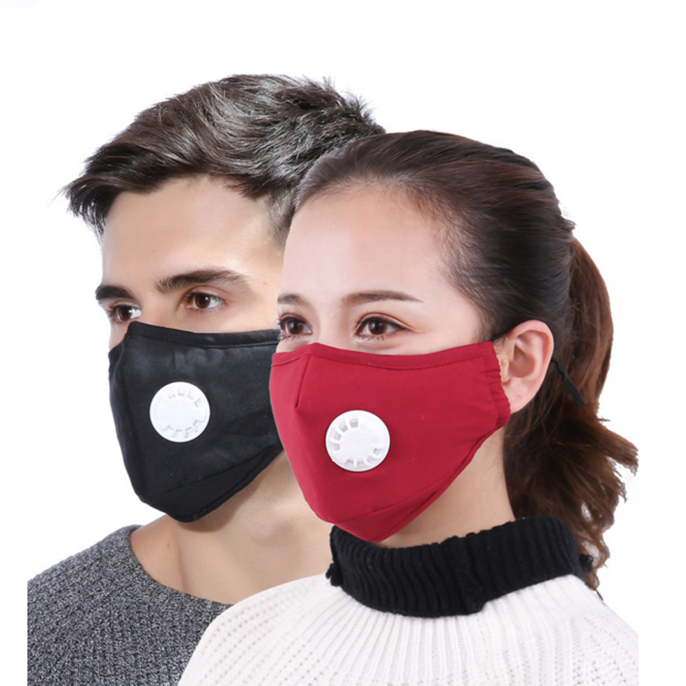 Anti Pollution Mask Dust Respirator Washable Reusable Masks Cotton Unisex Mouth Muffle For Allergy/Travel/ Cycling/Running