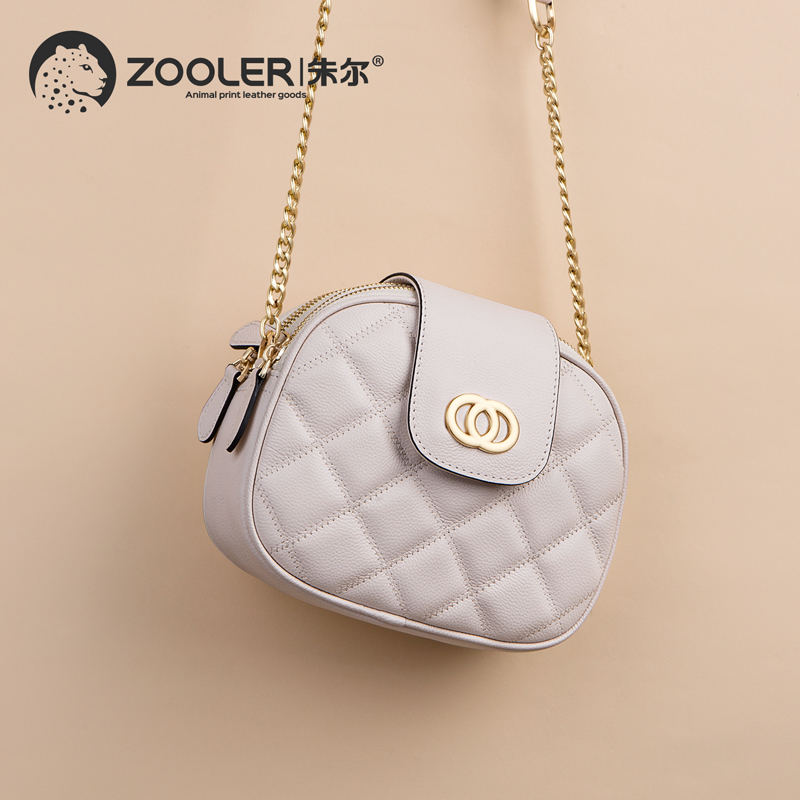 ZOOLER 2019 genuine leather bags women cow leather tote bag cross body chains woman messenger bag