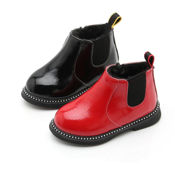 Childrens Martin Boots 2018 Autumn Winter Warm Plush Ankle Boots Kids Girls Casual Shoes Top Quality Boys Baby Leather BootsChildrens Martin Boots 2018 Autumn Winter Warm Plush Ankle Boots Kids Girls Casual Shoes Top Quality Boys Baby Leather Boots