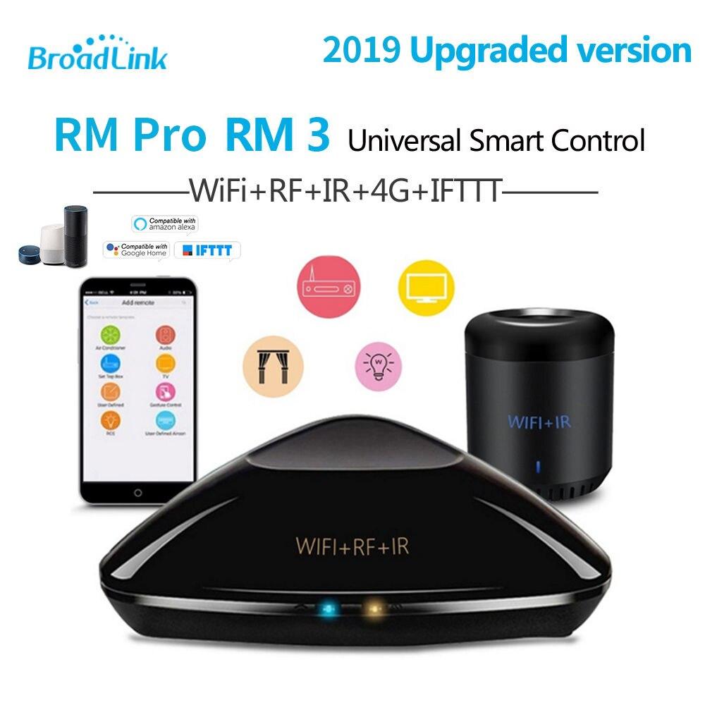 Broadlink Inteligente Original Casa RMPro RMmini3 Controlador para IHC app WiFi IR RF 4G Trabalho Controle Remoto de Voz para alexa Inicial do Google