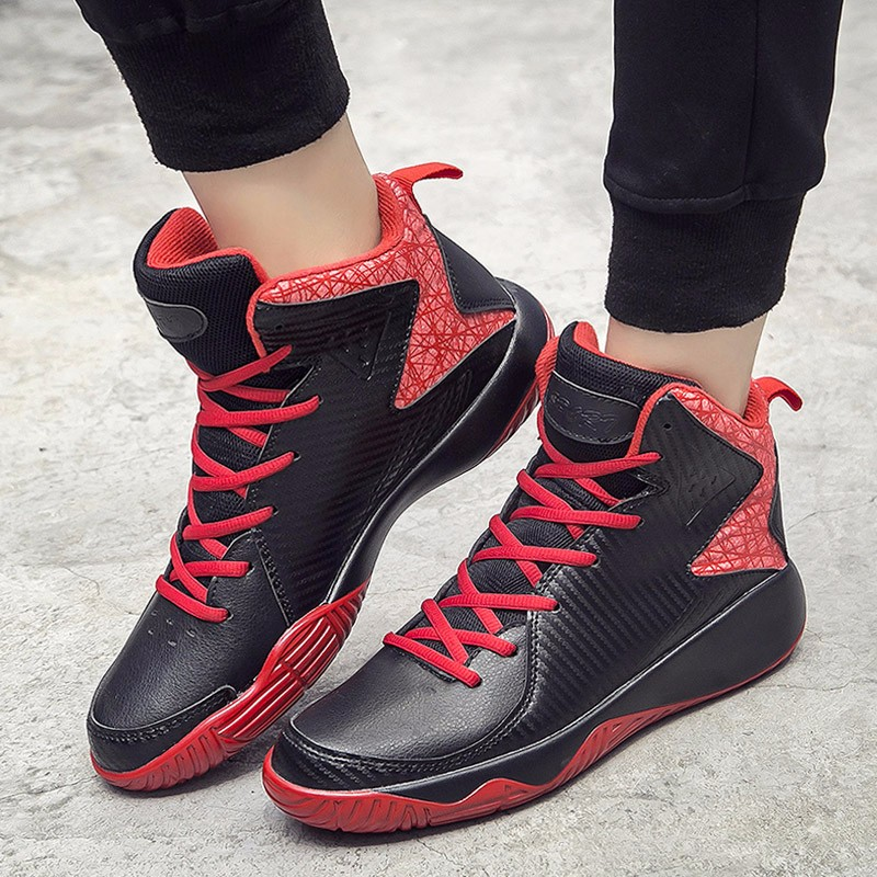High Top Mens Shoes Casual Lace Up Breathable Trainers Spring Autumn Sport Black White Red Basket Shoes Outdoor Size 39-44 YD43 (24)
