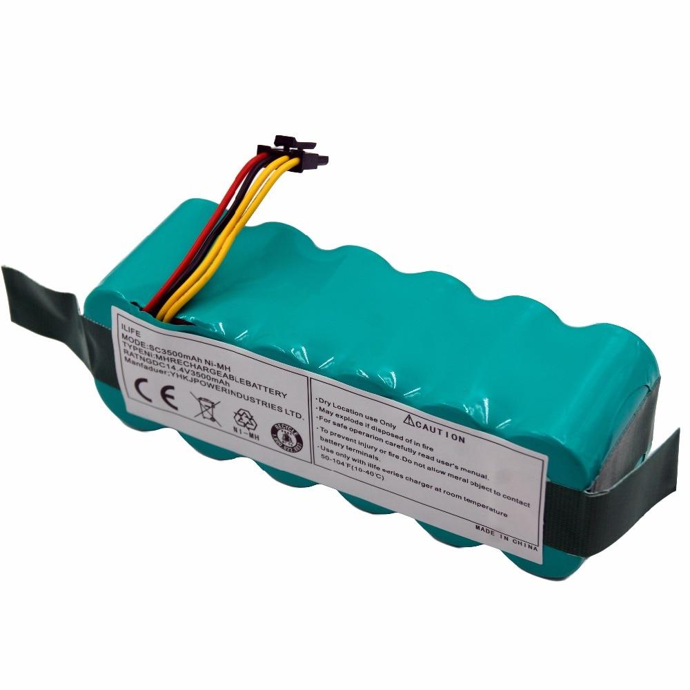 14.4V SC 3500mAh NI-MH Rechargeable Vacuum Cleaner Battery for Ecovacs CR120 Dibea Panda X500 X580 Kk8 Haier Sweeping Robot for kk8 left