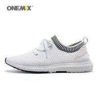 ONEMIX Melek ve Şeytan Serisi Koşu Ayakkabıları Erkekler Kanat Spor Sneakers Spor Kadın Açık Eğitmenler Beyaz Siyah Örme Üst