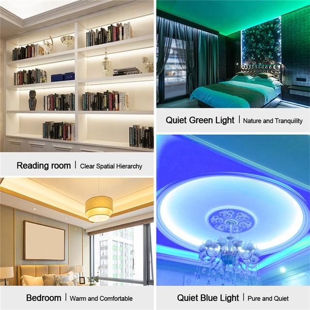 شريط إضاءة Led 12 فولت تيار مستمر شريط إضاءة 2835 RGB مقاوم للماء 1-5 متر 12 فولت تيار مستمر 60LED/م شريط شريط Led RGB لمبة إضاءة خلفية للتلفزيون مرنة الصمام الثنائي
