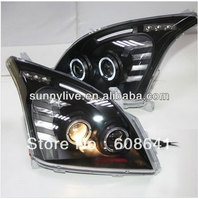 FJ120 LC120 LED head lamp for TOYOTA 2003-2009 year Black V2