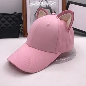 Image 4 - Casquette de baseball pour femmes et filles en pur coton, chapeau équestre, chapeau pour femme, nouvelle collection doreilles de chats