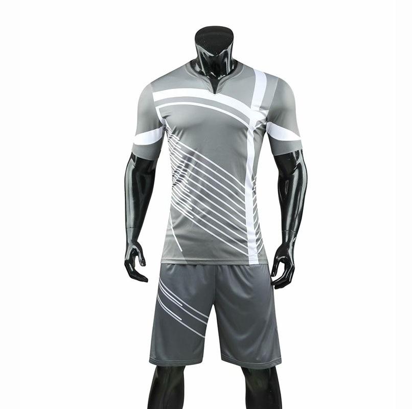 Men's Stripe Soccer Jerseys Men Blank Football Adult Trainning Uniforms Running Customize Logos