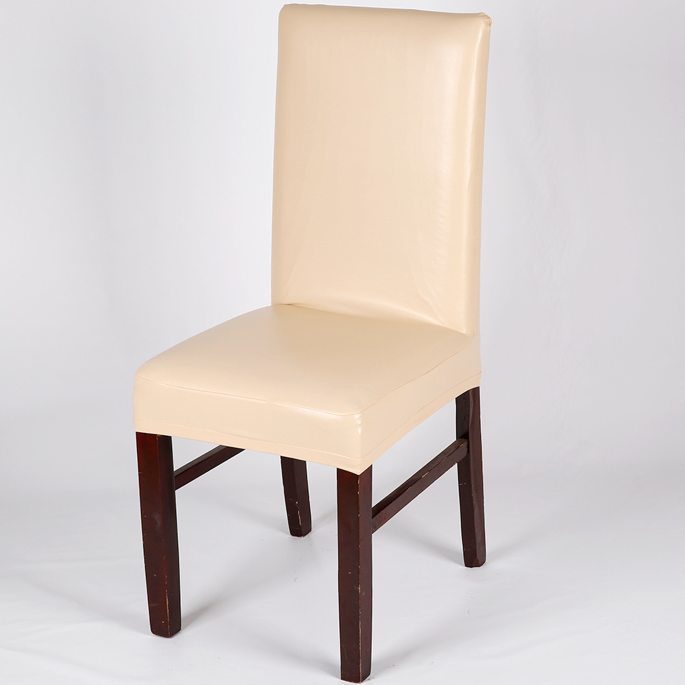 High Quality Waterproof PU Dining Chair Cover Leather Chair Cover Spandex  Elastic Stretch Housse De Chaises In Chair Cover From Home U0026 Garden On ...