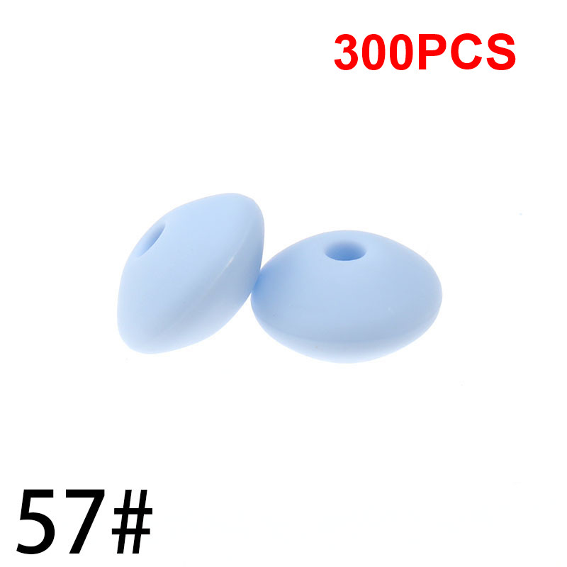 Whosale 12mm Lentils Silicone Round Teething Beads 300PC Abacus Spacing Bead Bpa Free Baby Teether Necklace Pendant Toy DIY
