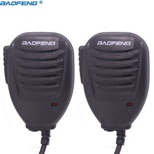 2 Stuks Baofeng BF 26 Speaker Mic Microfoon Voor Baofeng Draagbare Twee Manier Radio UV 5R UV 5RE BF 888S UV B6 GT 3 Walkie Talkie uv5r