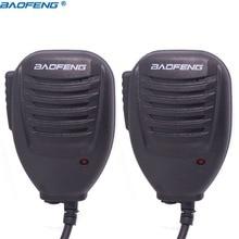 2 pièces BAOFENG BF 26 Micro Haut Parleur Microphone pour Baofeng Portable Radio Bidirectionnelle UV 5R UV 5RE BF 888S UV B6 GT 3 Talkie walkie uv5r