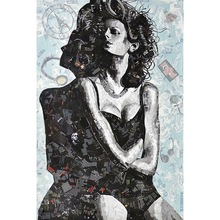 5D DIY Diamond Embroidery Fashion Woman Portraits Full Square  Painting Cross Stitch Home Picture Decor Gifts