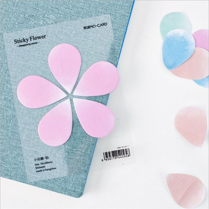 Beautiful petals Sticky Notes Post Stickers Scrapbooking Diary Stickers Planner Memo Pads Office Stationery School Supplies