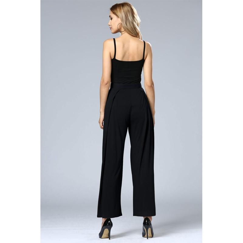 HTB1Hyr.OFXXXXckXFXXq6xXFXXXf - Wide Leg Pants High Waist Long Pants Button Office Work Wear PTC 186