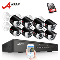 ANRAN P2P 1080P Full HD 8CH POE NVR 36 IR Day Night Outdoor Waterproof Security FTP