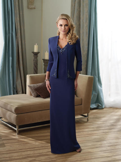 0f9a9b472eb Vintage satin with jackets tall royal blue mother of the bride dresses