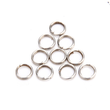 100pcs Stainless Steel Fishing Split Rings Winter Carp Fishing Gear Swivel Lure Baits Connector Fishing Tackle Accessories Pesca