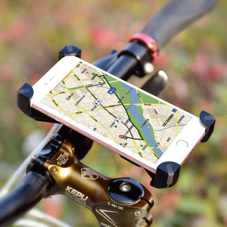 Bicicleta soporte para teléfono móvil universal 360 giratorio para 3.5-6.0 pulga