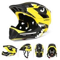 Lixada Kids Afneembare Integraalhelm Kinderen Sport Veiligheid Helm voor Fietsen kinderen Fiets Helm Voor Kinderen