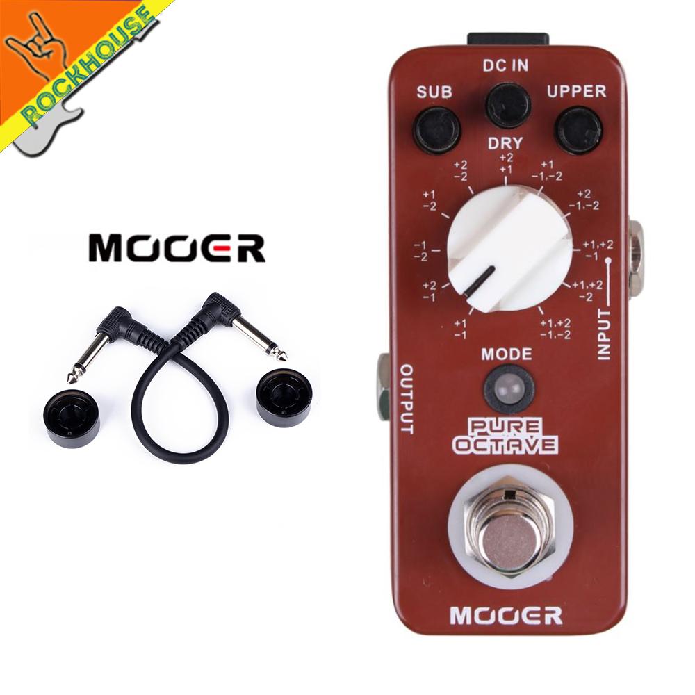 MOOER Pure Octave Guitar Pedal 11 Octave models Nice Church Music Tone True Bypass Free Shipping