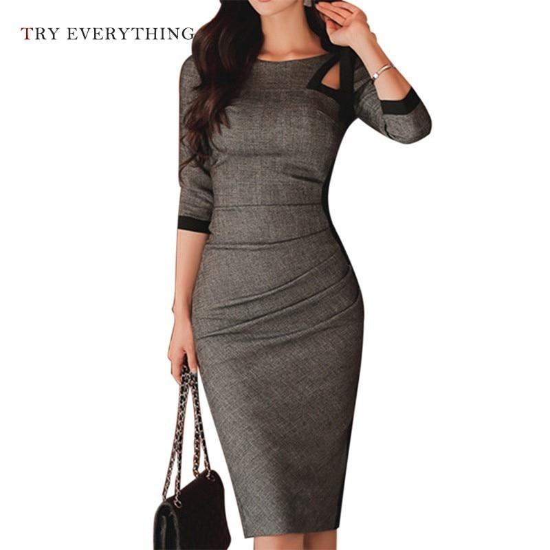 Elegant Women Office Dress Summer 2019 Plus Size Slim Women Pencil Dress Bodycon Midi Dress Backless Ladies Dresses 3XL 4XL 5XL in Dresses from Women 39 s Clothing