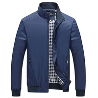 Spring Men's Casual Collar Solid Color Jacket, Fashion Father's Gift Jacket , Big Size Men's Loose Comfortable Jackets Jackets