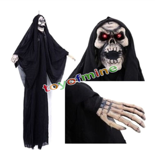 halloween decoration black hanging witch animated halloween prop haunted house yard scary decor party decoration