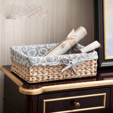 Straw storage basket desktop storage box debris storage box fabric storage basket все цены