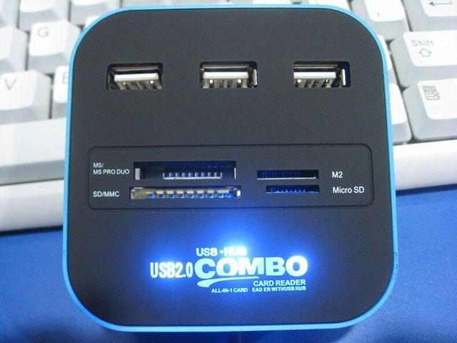 USB HUB Combo All In One USB 2.0 Micro SD  4