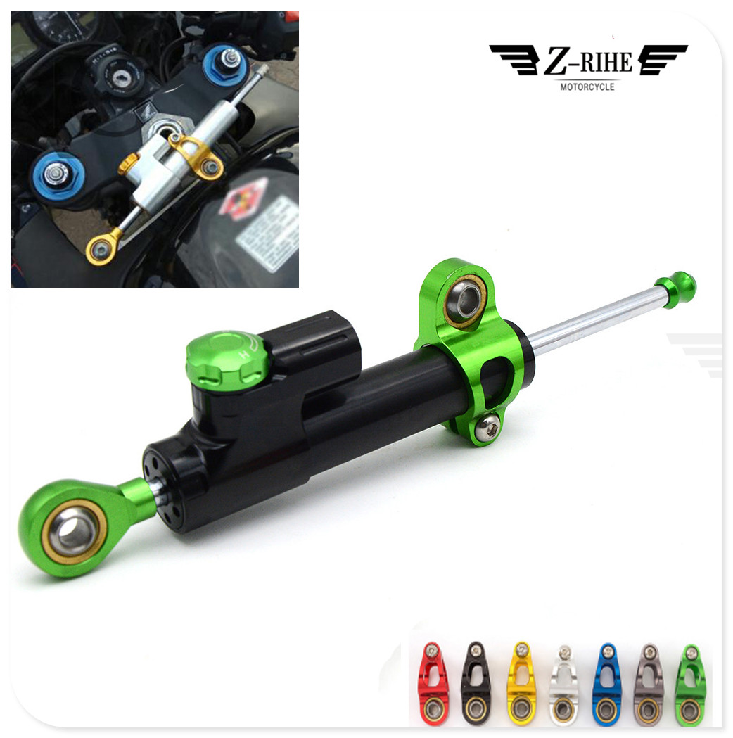 Motorcycle CNC Adjustable Damper Stabilizer Damper Steering For HONDA CBR1100XX BLACKBIRD ST1300 ST1300A VFR800 CBR125R adjustable steering damper