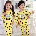 Menino de algodão do bebê do sexo feminino de lã pijama terno pijama de algodão pijama frete grátis pessoal