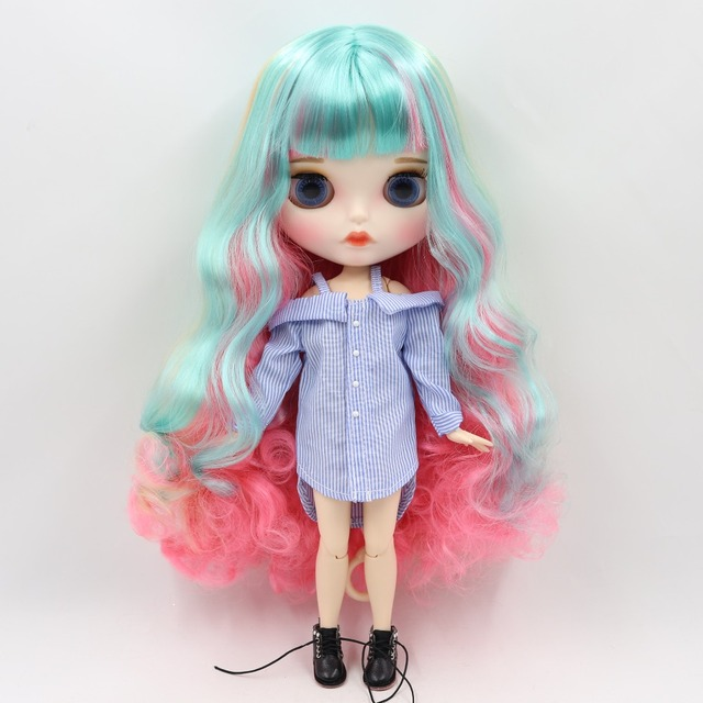 Harlee – Premium Custom Blythe Doll with Full Outfit Pouty Face