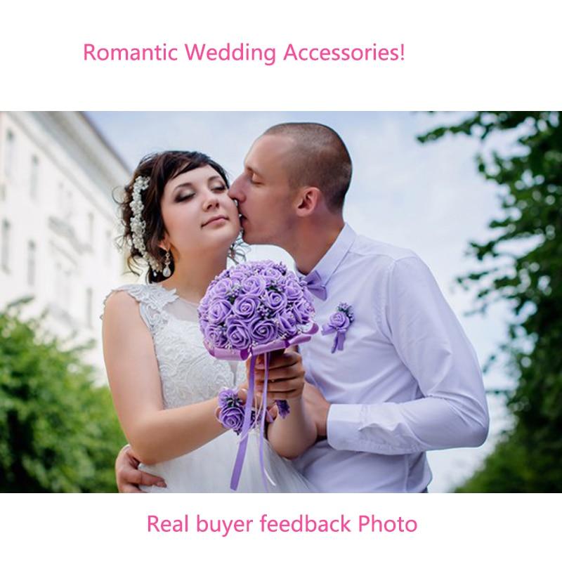 Bröllopshår Tillbehör för Noiva Bride Crystal Pearl Handgjorda - Märkessmycken - Foto 6