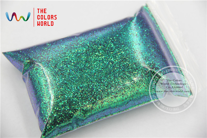 TCR402 Chameleon Glitter Green With Purple and Gold luster color 0.4MM Size glitter for nail Art or other DIY decoration 2016 new arrive 2 6mm light purple resin rhinestones non hotfix glitter beauty bead for nails art backpack diy design decoration