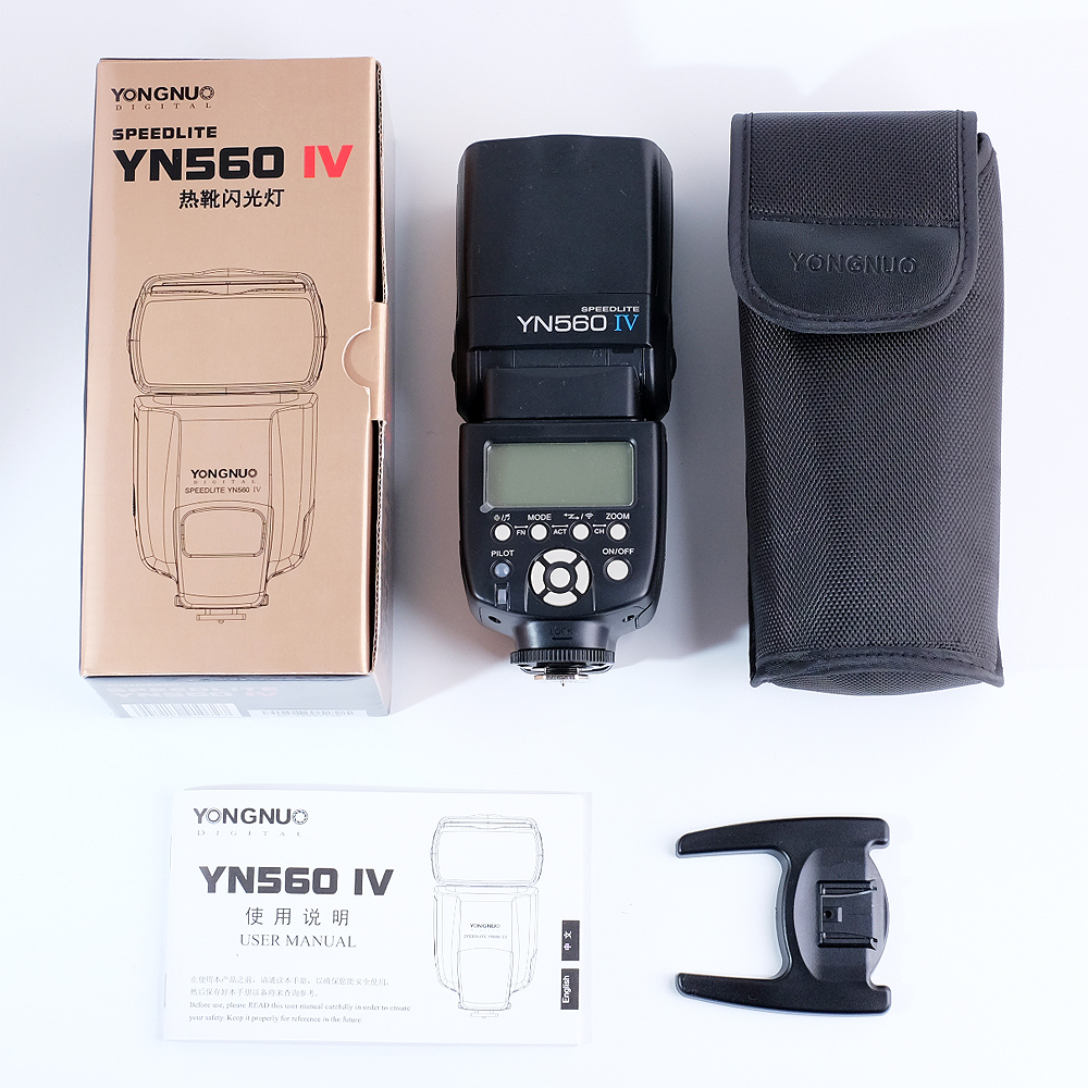 YONGNUO YN560 IV Wireless Flash Speedlite Master + Slave Flash + Built-in Trigger System for Canon Nikon Pentax Olympus Fujifilm yongnuo 3x yn 600ex rt ii 2 4g wireless hss 1 8000s master flash speedlite yn e3 rt flash trigger for canon eos camera 5d 6d